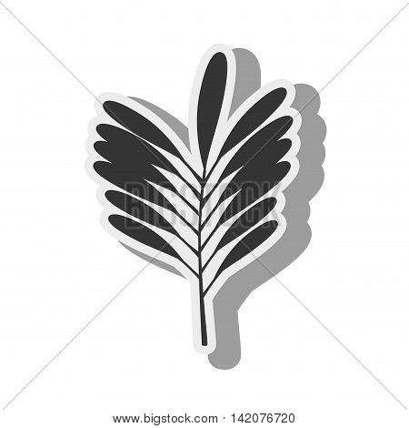 plant green leaves stripes ecology leaves silhouette vector graphic isolated and flat illustration