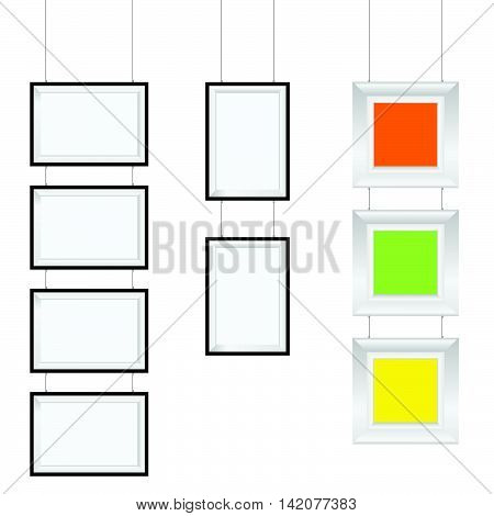 Frame Photo Art Gallery Set Illustration In Colorful