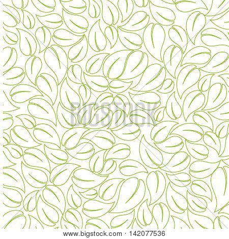 plant sketch leaf ecology leaves silhouette vector graphic isolated and flat illustration