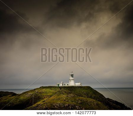 Strumble Head Lighthouse. This lighthouse is situated on the North Pembrokeshre coast.