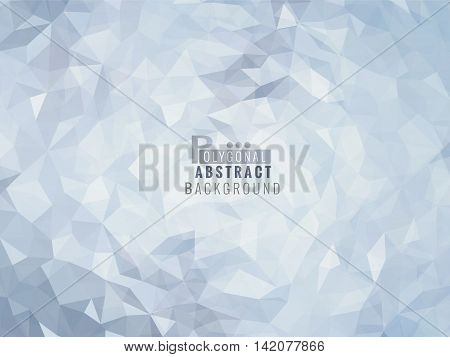 Polygonal abstract background on light blue shade