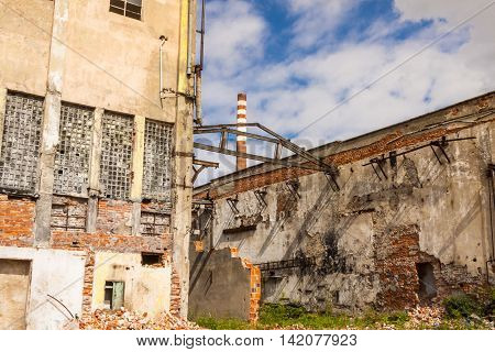View on old abandon paper mill in Kalety Silesia province Poland - Europe.