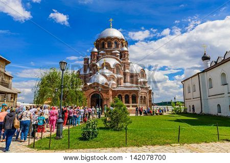 Island Sviyazhsk, Russia - June 12, 2016: joy of all who sorrow Cathedral on the island of Sviyazhsk in the June 12, 2016, Sviyazhsk island, Russia.