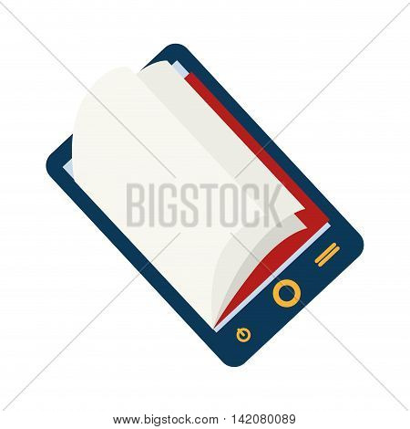 reader electronic  pocket ebook ereader page book digital vector graphic isolated and flat illustration