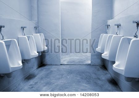 urinals in the bathroom