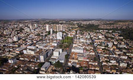 Aerial View Of The City Of Sao Joao Da Boa Vista In Sao Paulo State In Brazil. July, 2016.