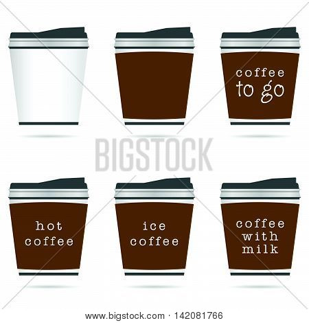 Cup Of Coffee In Small Glasses Icon Illustration In Colorful
