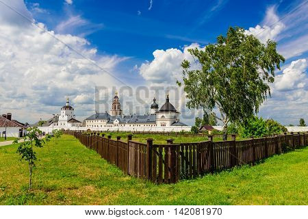 Sviyazhsk island, Russia - June 12, 2016: The Church on the island of Sviyazhsk in the June 12, 2016, Sviyazhsk island, Tatarstan, Russia.