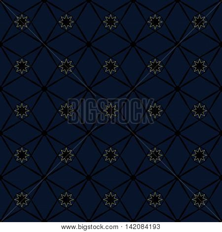 Rhombus and star seamless pattern. Fashion graphic background design. Modern stylish abstract texture. Monochrome template for prints textiles wrapping wallpaper website VECTOR illustration
