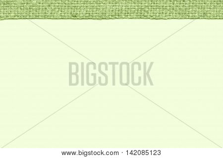 Textile thread fabric element mint canvas obsolete material close-up background
