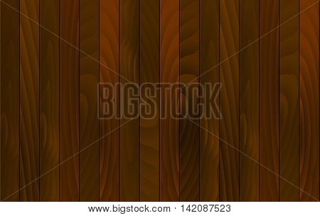 Vector wood background. Wooden desk with vertical red wood plank, old oak floor. Vector illustration stock vector.