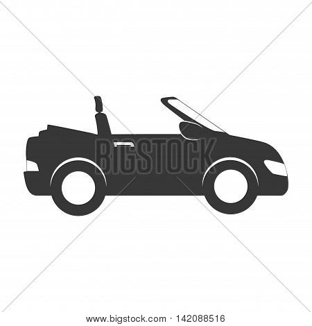 car side  sport convertible vehicle auto automobile transport sedan icon modern vector graphic isolated and flat illustration