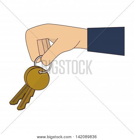 key hand seller fingers arm human security vector graphic isolated and flat illustration
