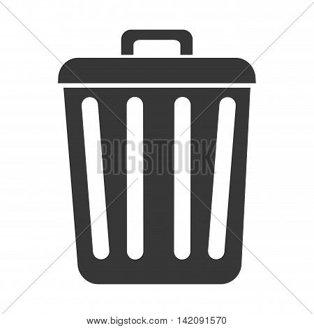 trash recipient recycling garbage can clean ecology vector graphic isolated and flat illustration