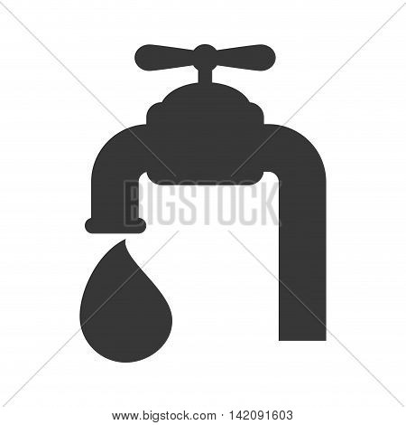 tap water drop use aqua wash silhouette vector graphic isolated and flat illustration