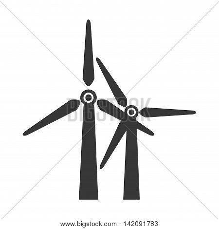 wind farm windfarm tower electricity eco power vector graphic isolated and flat illustration