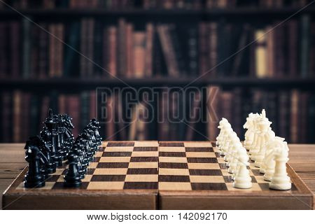Chess game image.strategy board games.black and white.