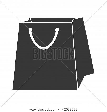 bag shop shopping gift packet store paper purchase vector graphic isolated and flat illustration