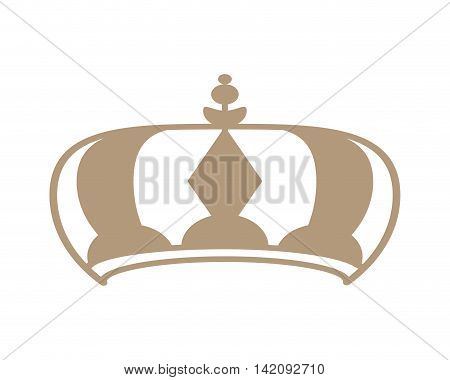 flat design royalty crown icon vector illustration