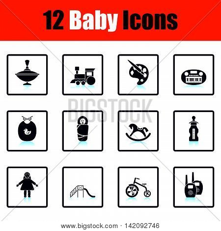 Set Of Baby Icons.