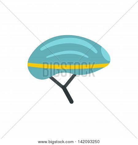 Bicycle helmet icon in flat style isolated on white background. Sport symbol