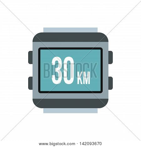 Speedometer for bike icon in flat style isolated on white background. Speed measurement symbol