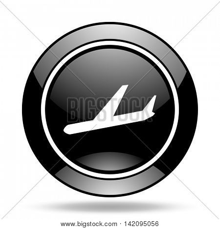 arrivals black glossy icon
