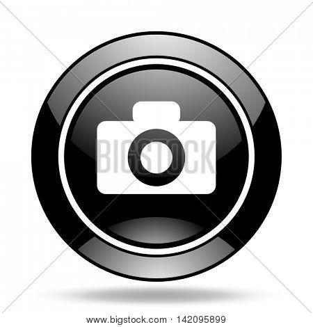 camera black glossy icon