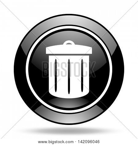 recycle black glossy icon