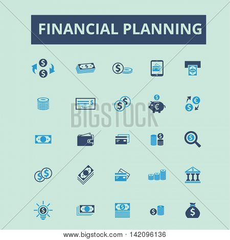 financial planning icons