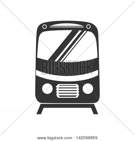 tram car train front express subway ride railway vector graphic isolated and flat illustration