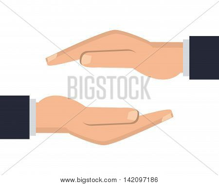 flat design shelter hand icon vector illustration
