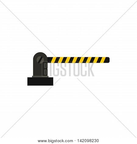 Gate in parking lot icon in flat style isolated on white background. Obstacle symbol
