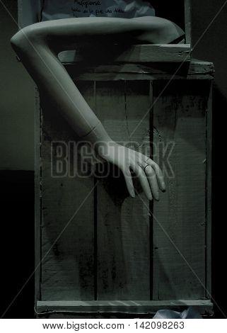 Woman Legs Mannequin Dark Scene