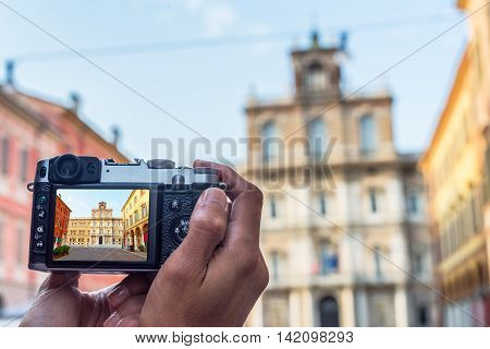 Palazzo Ducale In Piazza Roma Of Modena. Italy.