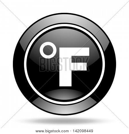 fahrenheit black glossy icon