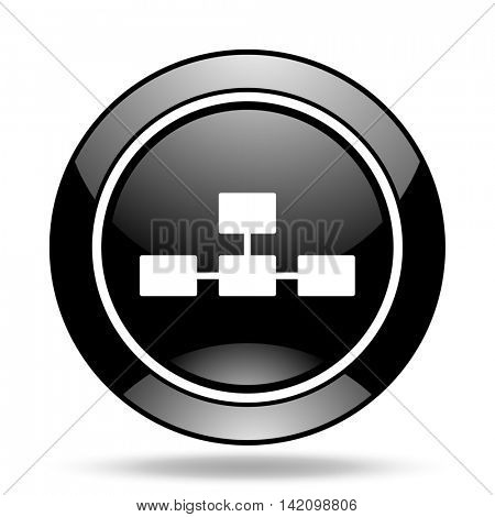 database black glossy icon