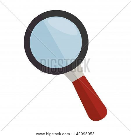 lupe magnifying glass search explore instrument focus examine vector graphic isolated and flat illustration