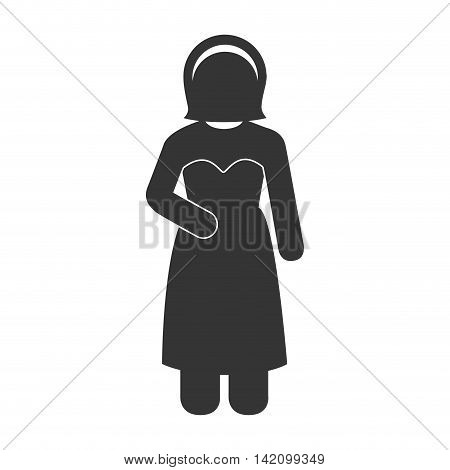 wife love bride female girl married dress woman vector graphic isolated and flat illustration