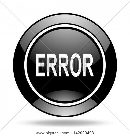 error black glossy icon