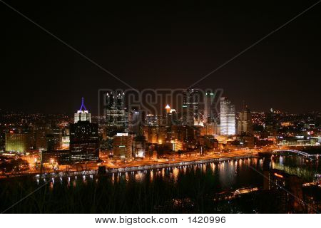 Pittsburgh Pennsylvania At Night