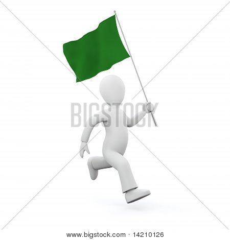 Holding a lybian flag
