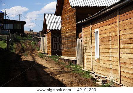Khuzhir village near Baikal lake, Olkhon island, Siberia, Russia