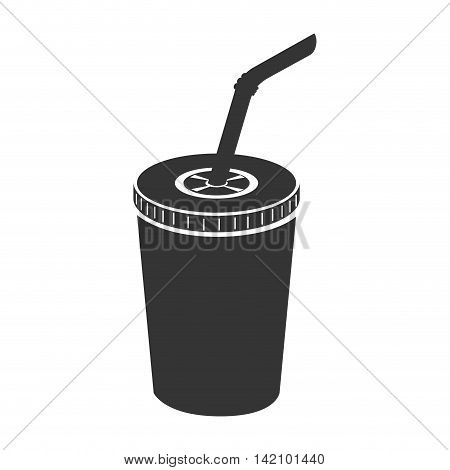 drink paper glass straw liquid recycle takeaway vector graphic isolated and flat illustration