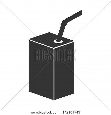 carton paper drink box straw liquid juice milk vector graphic isolated and flat illustration