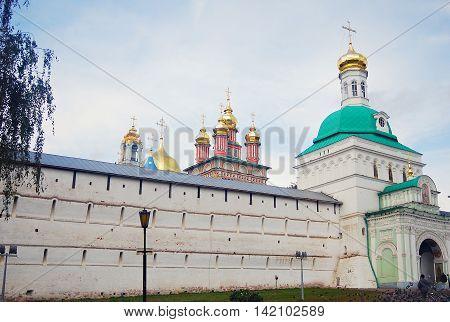 SERGIEV POSAD, RUSSIA - SEPTEMBER 06, 2012: Trinity Sergius Lavra Sergiev Posad Russia. UNESCO World Heritage Site.
