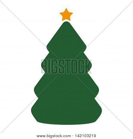 christmas star tree tradition december decoration season object vector graphic isolated and flat illustration