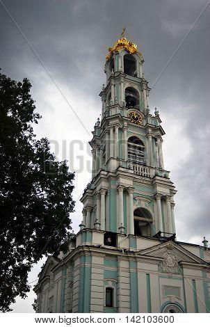 Church in Trinity Sergius Lavra Sergiev Posad Russia. UNESCO World Heritage Site.