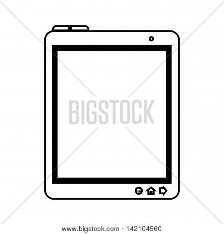 tablet device screen ipad touch technology computer vector graphic isolated and flat illustration