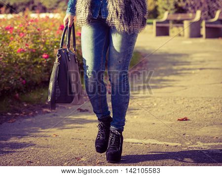 Part Body Of Fashionable Woman